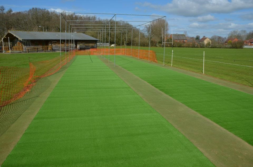 Double Practice Cricket Wicket Installation