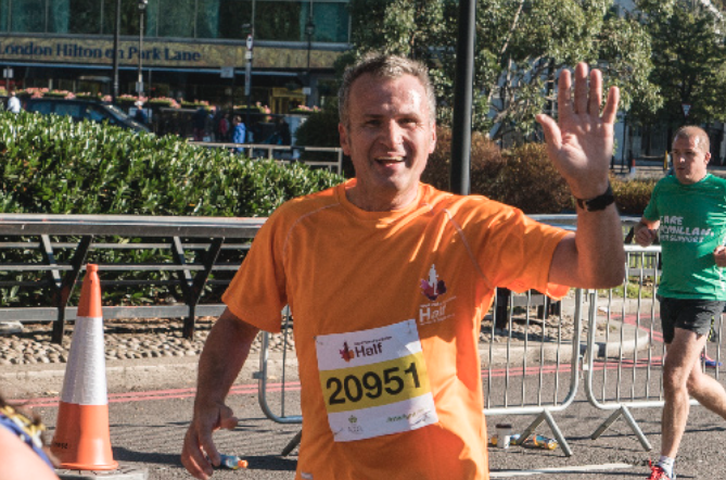 Director Runs Marathon for Charity Perennial